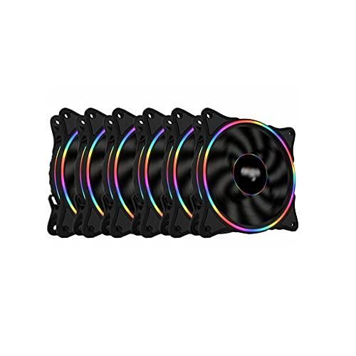 LLRZ 120 mm RGB ventilador de PC de alto rendimiento almohadillas de goma absorbentes para carcasa de ordenador (cantidad: 6)