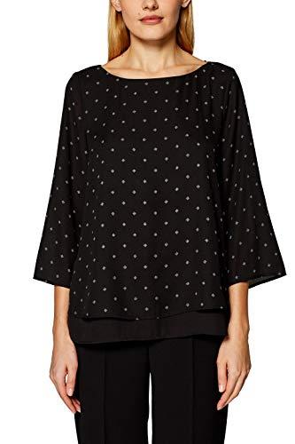 ESPRIT Collection Damen 999EO1F800 Bluse, Schwarz (Black 001), (Herstellergröße: 34)
