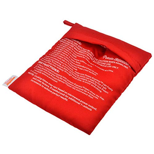XINFULUK Mikrowellen-Backkartoffel-Kochbeutel Baked Potatoes Rice Washable Bag - Red