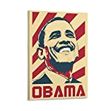 Barack Obama Art Poster Frame Canvas Art Poster and Wall Art Picture Print Modern Family Bedroom Decor Posters 40 × 60 cm