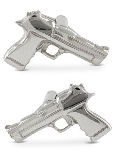 Boutons de manchette, Pistole, Argent 925, Faits mains