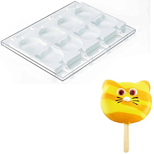 Silikomart Professional SteccoFlex Silicone Ice-Cream-Bar Mold Set, Cat