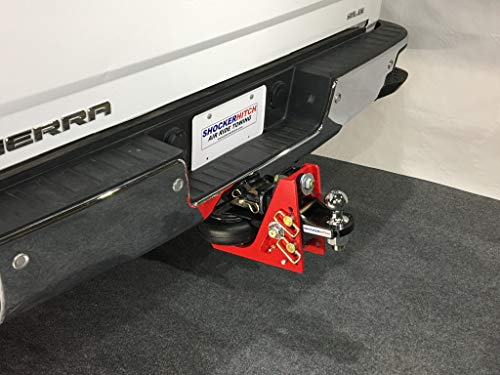 """Shocker HD 16K Air Hitch with Adjustable Ball Mount 16,000 lbs 1/2 to 3-1/2"""" Drop, Fits 2-1/2"""" Hitch, Has 2-5/16"""" Ball"""