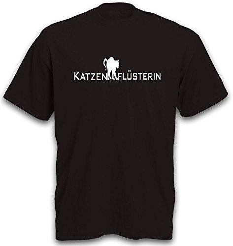 T-Shirt Katze Cat Katzenflüsterin Tiermotiv Katzenmotiv Damen Frauen Geschenkidee b&c Gr. XXL