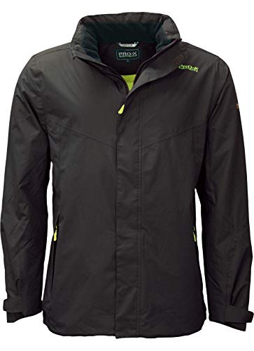 PRO-X elements Herren Phase Übergangsjacke, anthrazit/Wild Lime, L