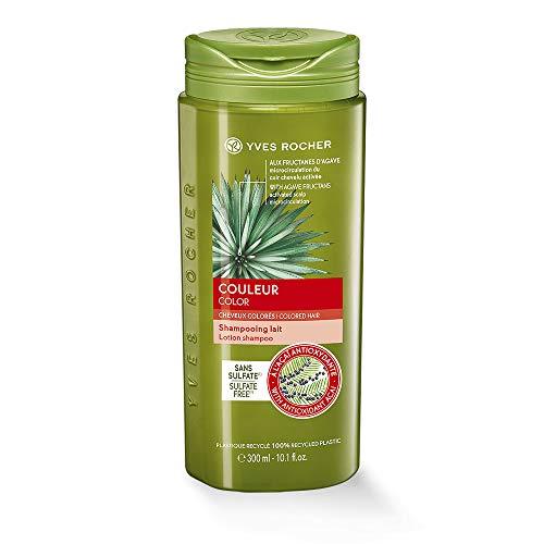 Yves Rocher PFLANZENPFLEGE HAARE Farbschutz-Shampoo, Haar-Shampoo mit Farb-Schutz, für coloriertes Haar, 1 x Flacon 300 ml