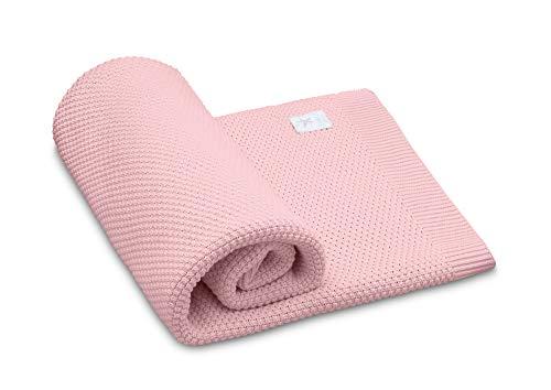 EliMeli Babydecke Kuscheldecke 100% naturreine Materialien Bambus Baumwolle perfekt für Babys Geschenkverpackungen SuperSoft (Pink)