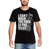 Elbenwald Path of The Right Camiseta de Hombre Ellie's Song para los Fans de The Last of Us algodón Negro - L