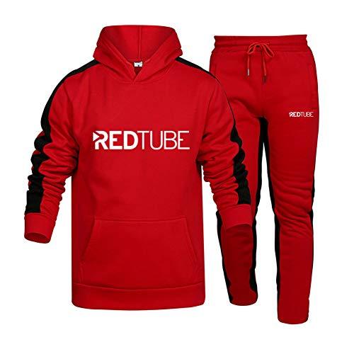 Blue-sky de Los Hombres Chandal Conjunto Trotar Traje RED_TUBE.S 2 Piezas Raya Sudadera + Pantalones Saco X /  Rojo/XXL