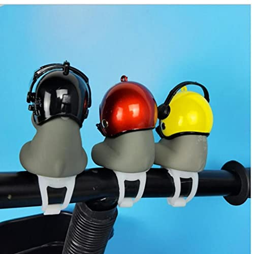 Liadance Bike Bell, Air Bike Bicycle Horn with Led Lights Propeller Handlebar Bike Squeeze Horns for Toddler Children Adults (smiley Helmet)