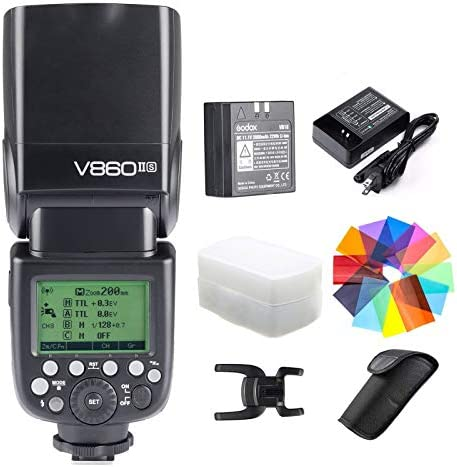Godox V860II S Kit HSS 1 8000s GN60 2 4G TTL 1 5s Recycle Time Li ion Battery Camera Flash Speedlite product image