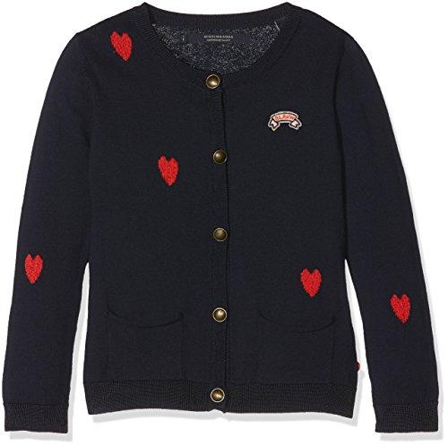 Scotch & Soda R´Belle Mädchen Heart Intarsia Cotton Cardigan Pullover, Mehrfarbig (Combo B 22), 116 (Herstellergröße: 6)