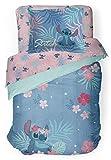 Jay Franco Disney Lilo & Stitch Paradise Dream Full Comforter & Sham Set - Super Soft Kids Reversible Bedding - Fade Resistant Microfiber (Official Disney Product)