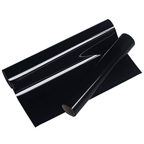 Black Iron on Vinyl for Cricut, 10' x 5ft Black HTV Vinyl Roll for Shirts, Black Heat Transfer Vinyl for All Cutter Machine - Easy to Cut & Weed for DIY Heat Vinyl Design