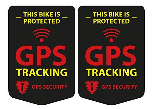 GPS tracking 2 stuks stickers voor de fiets, bike sticker zwart - weerbestendig, UV-bestendig