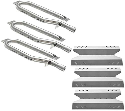 Hisencn Grill Repair Kit Replacement for Members Mark BQ05046-6, BBQ Pro BQ05041-28, BQ51009, Sam's Club, Outdoor Gourmet Gas Grill Models, Stainless Steel Pipe Burner Tube, Heat Plate Tent Shield