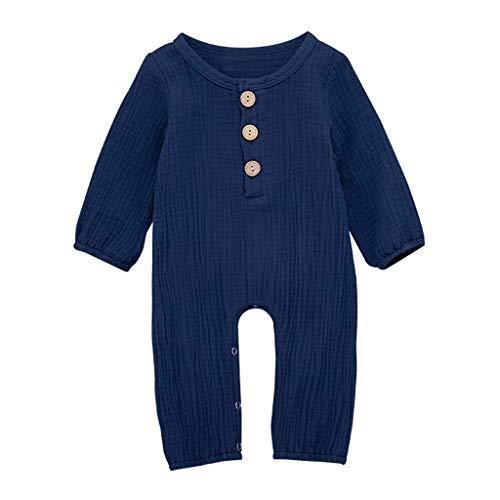 Covermason Babykleidung Neugeborene Säugling Baby Junge Mädchen Strampler Bettwäsche aus Baumwolle Einfarbig Overall Kleider Jumpsuit Outfits