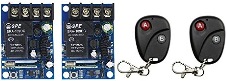 DC12V 24V 48V 1CH RF Wireless Remote Control Switch System 2 Receiver & 2 Transmitter Classic