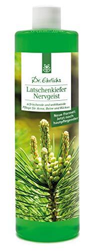 Dr. Ehrlichs Latschenkiefer Nervgeist 250 ml - bei Muskelverspannungen, Zerrungen, Schwellungen, kalten Händen & Füßen - perfekt für Nacken, Schulter, Knie und Gelenke - Naturkraft zur Entspannung