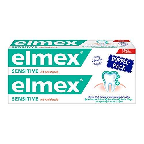elmex SENSITIVE Zahnpasta Doppelpack, 2x75 ml