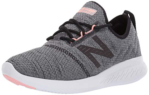 New Balance Women's Coast V4 FuelCore Running Shoe, black/grey/white peach, 5 W US
