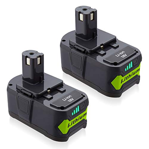 Powerextra 18V Battery 6.0Ah 2 Pack Compatible for Ryobi 18 Volt ONE+ P102 P103 P104 P105 P107 P109 P122 Cordless Power Tools