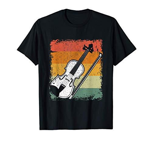 Retro Reproductor De Violn Regalo Msica Vintage Violn Camiseta