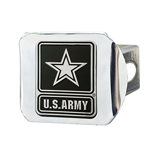 """Military U.S. Army Hitch Cover, 4 1/2"""" x 3 3/8""""/Small, Black"""