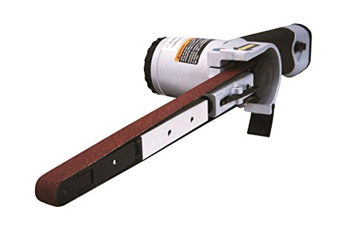 Astro Pneumatic Tool 3037 Air Belt Sander (1/2' x 18') with 3pc Belts (#36, #40 & #60)