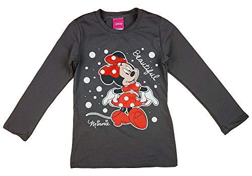 Minnie Mouse Disney Mädchen Pulli Langarmshirt in Größe 80 86 92 98 104 110 116 122 Baumwolle Longsleeve Weiß Rosa Gemustert Farbe Modell 8, Größe 116