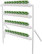 Kacsoo Hydroponics System Kit de Cultivo Kit de PVC Sistema de Plantas de jardín y Experimento de hidroponía, Verduras, Flores (72 sitios, 8 Tubos, 2 Capas)