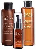 【セットで15%OFF】セットでお買い上げいただくと単品購入よりお得です★また、ALLNA ORGANICでは泥洗顔・クレンジングも販売しております。併用でより潤い肌に! 【 23種の植物由来美容成分と12種の美容 】ユズ果実エキス・サトウキビエキスなどの植物成分(保湿成分)、ヒアルロン酸・コラーゲンなどの美容成分を贅沢に配合しました。 【 爽やかな香り 】ティーツリー葉油、ラベンダー油、オレンジ果皮油を基調とした植物アロマでボタニカルな香りに仕上がりました。 【コラーゲンについて】スキンケアセ...