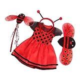 Toygogo Schöne Biene Kostüm Puppen Kleidung Kleider Outfits für 18 Zoll American Puppen - Rot