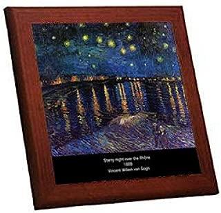 ゴッホ『 ローヌ川の星月夜 』の木枠付きフォトタイル(世界の名画シリーズ)