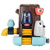 BST&BAO Set di giocattoli da bagno per Bambini piccoli, giocattolo da Vasca multifunzionale, giocattolo da Vasca da bagno con cascata a parete, giocattolo da Vasca da bagno per Bambini