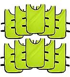 Ronex Sports Pack de Petos de Entrenamiento 10 Unidades para niños, jóvenes y Adultos (Petos Deportivos, Petos de Futbol (Fluorescente, Adulto)
