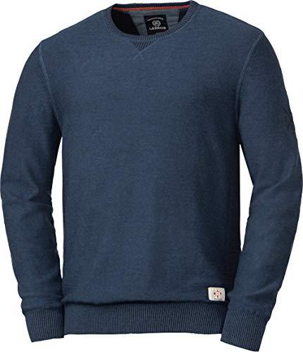 LERROS Herren Baumwoll-Pullover, modischer Sweater, Bequeme Kleidung für Männer, aus 100{e6e907dec3f05038be06903a7424f5637439634948901d564d26efbeaa5f48fe} Baumwolle, pflegeleicht & waschmaschinenfest, in Dunkelblau