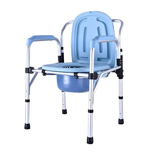 MMM@ Chaise Chaise de bain Siège de toilette Pliable Femme enceinte Vieil homme Chaise de propreté Solide étanche Alliage d'aluminium chaise