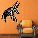 Tianpengyuanshuai Dios Egipcio Etiqueta de la Pared decoración del hogar Dios Antiguo diseño Egipcio Tatuajes de Pared Vinilo Pared Arte mural68X58cm