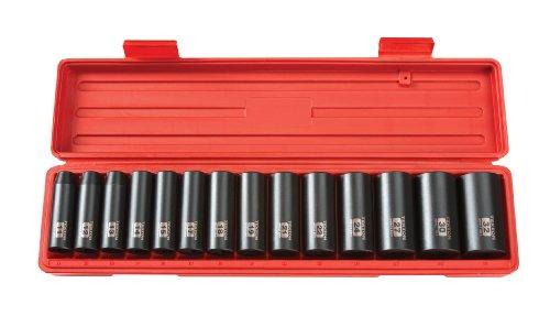 TEKTON 1/2 Inch Drive Deep 6-Point Impact Socket Set, 14-Piece (11-32 mm)   4885