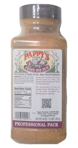 Pappy's Choice Special price Seasoning Prime 55% OFF Rib Rub Oz 24 Professional Pack