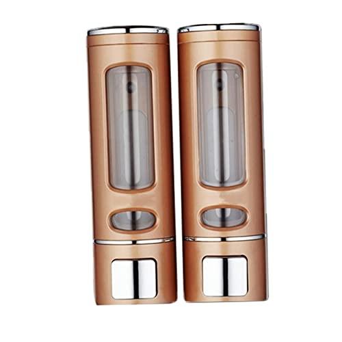LOVIVER Dispensador de jabón líquido Ducha baño Champú Gel Montaje en Pared baño Cocina baño Banco de Oficina - Oro Doble