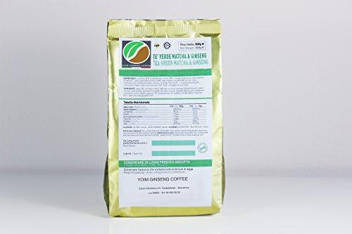 Soluble de bebida de te verde Matcha con Ginseng 450gr