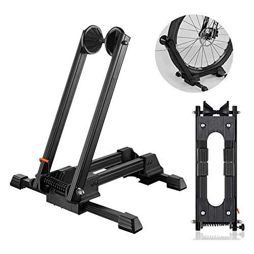 Soporte Plegable para Bicicletas Soporte Portátil para Almacenamiento de Bicicletas Soporte para Estacionamiento En El Piso Caballete de Aleación de Aluminio Estacionamiento Y Reparación