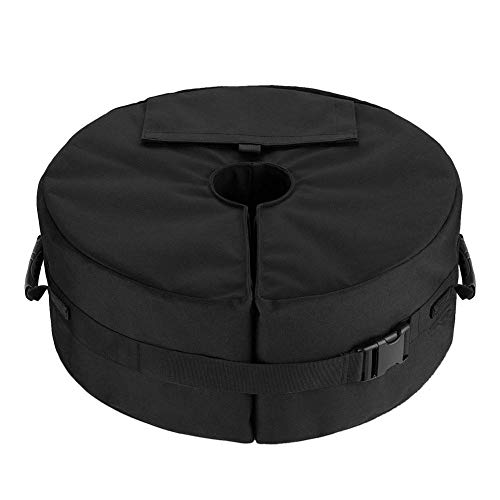 mooderff Paraguas base Weight Bag Runder, desmontable, Fillable Soporte para paraguas de tienda, bolsa de arena, 46 cm