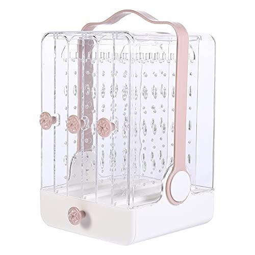 LIXBD Boîte de rangement en acrylique transparent pour boucles d'oreilles, colliers, bracelets - Couleur : blanc