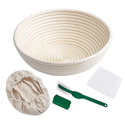 "Bread Banneton Proofing Basket 10"" Round Bread Proving Baskets Set Rising Dough Baking Bowl Gifts for Artisan Bread Making Starter Homemade (10"" Round)"