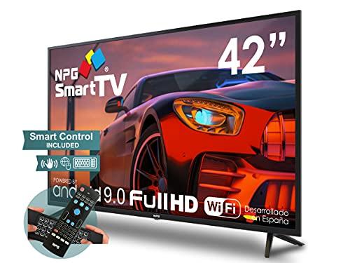 """NPG430L42FQ 2021-42"""" Full HD Smart TV y Mando Exclusivo con Teclado QWERTY y Función Motion, Android 9.0, Procesador Quad Core, WiFi, DVB-T2/C, PVR, Screen Mirroning, Smart TV multilenguaje."""
