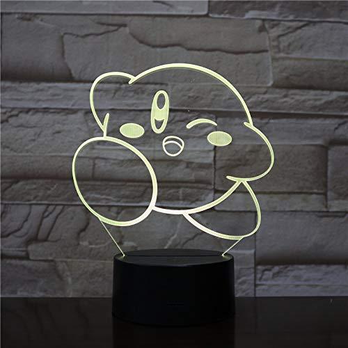 Cartoon Wolke nachtlampje voor kinderen, 3D illusie lamp, Touch Button 7 kleuren, bureaulamp met afstandsbediening voor kinderkamerdecoratie en kindergeschenken
