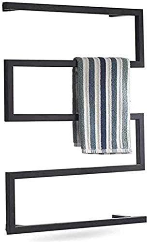 Toallero calentador de toallas eléctrico, calentador de toallas montado en la pared, barras cuadradas de acero inoxidable para baño, la mejor opción para decoración de baño en tu hogar
